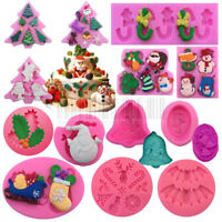 Christmas Silicone Fondant Cake Mold Sugarcraft Decoration Chocolate Mould Gifts