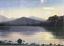 "Jim Ridout - Watercolour  ""A Lake View At Sunset"" Framed, Glazed & Signed"