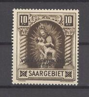 Saargebiet Mi.Nr. 179 IV, 10 Fr. Freimarke 1934 mit Plattenfehler IV ** (25241)