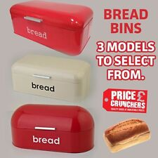 Cookware, Dining & Bar Vintage Retro Style Metal Cream Bread Bin New Bread Bins
