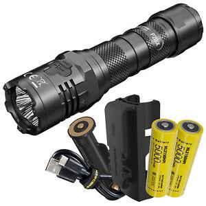 NITECORE P20iX 4000 Lumen USB-C Rechargeable Flashlight with Extra Battery