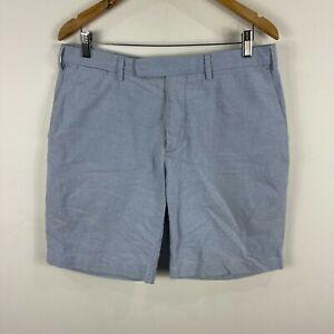 Ralph Lauren Mens Shorts Size 34 Blue Bermuda Pockets Zip 14.01