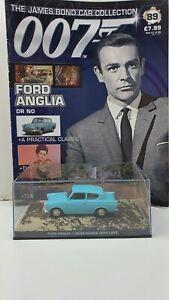 1/43 JAMES BOND 007 DIE CAST FORD ANGLIA  #89  MAGAZINE