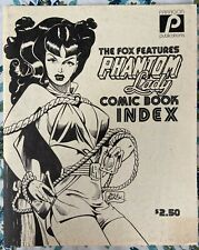 PHANTOM LADY  #2 Paragon Publications 1979 Comic Book Index for The Fox Black