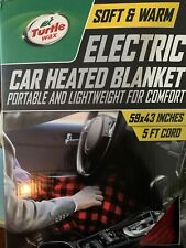 Large Heated Blanket 12V Car Electric Travel Blanket  Portable Soft Warm 59x43