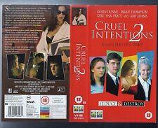 vhs video CRUEL INTENTIONS 2: Manchester Prep. Robin Dunne, Sarah Thompson.