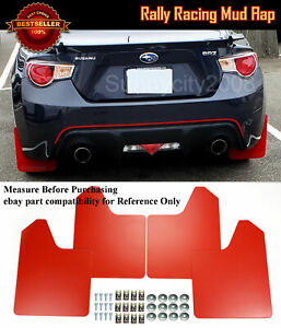 "15"" x 11.5"" 4 Pcs Red Rally Racing Flexible Mud Flaps Splash Guard Fit Honda...."