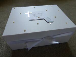 Holy Communion Baby Gift Personalised Keepsake Box Memory Box Christening