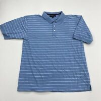 Tommy Hilfiger Golf Polo Shirt Mens 2XL XXL Blue White Short Sleeve Striped