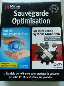 True Image + System Mechanics   -  Sauvegarde Optimisation pour PC Windows- Neuf