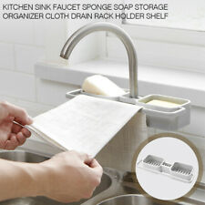 Home Kitchen Sink Faucet Sponge Soap Storage Organizer Rack Holder Drain Shelf