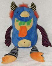 "Mary Meyer Plush Blue Monster Thugz Green Teeth Stripes Soft Stuffed Toy 13"""