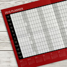 2018 Year Wall Planner Yearly Calendar ~ A2 Size (G42)