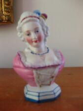 Antique Bisque Lady Bust Trinket Box