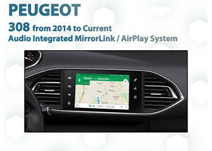 Peugeot 308 Allure Active OEM Grade Smartphone Mirroring AirPlay Install Kit