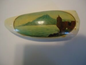 "Vintage Faux Replica Hand Painted Whale Tooth, 170 g, 4 1/2"" X 1 7/8""   tested!!"
