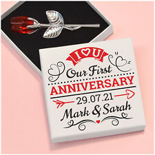 PERSONALISED I Love You 1st First Wedding Anniversary Gifts for Wife Husband
