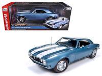 Auto World 1:18 1967 Chevrolet Camaro Z28 Diecast Model Car Blue AMM1101
