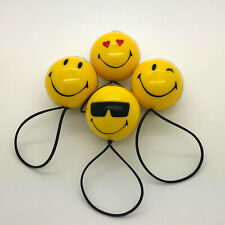 4 x Carplan 3D Smiley Face Car Air Freshener Freshner Scent - Assorted Faces