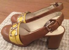 Orla Kiely Clarks, Beatrice Shoes in tan in size 3, EUR 35.5, Vintage Style
