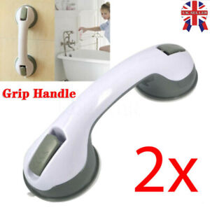 2 X SUPPORT GRAB HANDLE SUCTION BATH SHOWER DISABILITY AID SAFETY GRIP RAIL NEW