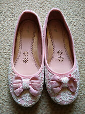 GIRL'S SAINSBURYS PINK & WHITE SHOES SIZE 1