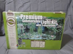 New Little Giant Premium Pond Submersible Light Kit with Transformer Model LST-1