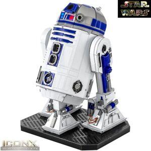 Metal Earth ICONX Star Wars R2-D2 Robot 3D Steel DIY Model Building Kit