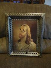JESUS IMAGE PICTURE IN METAL FRAME