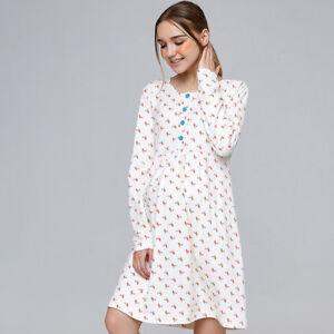 Nursing Breastfeeding Dress Homewear Sleepwear Cotton Cute Birds Print 8 10 12