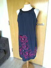 Ladies JOHN ROCHA Dress Size 12 Navy Purple Smart Party Evening Wedding Races