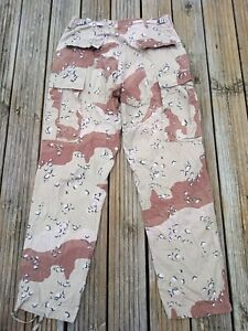 """US MILITARY DESERT CAMOUFLAGE COMBAT TROUSERS GENUINE FORCES ISSUE MEDIUM 32-34"""""""