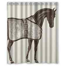 Custom Ideas Horse Equestrian Waterproof Fabric Bathroom Shower Curtain 60x72