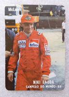 RARE Vintage F1 ✱ NIKI LAUDA & MARLBORO MCLAREN ✱ Collection Calendar 1985