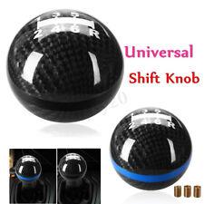 6 Speed Aluminium Carbon Fiber Manual Gear Shift Knob Shifter Stick Round Ball