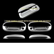 For FORD F150 1997-2003 Chrome Covers 2 Doors WITH Keyhole + Tailgate w/ Keyhole