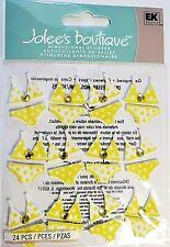 Bikini Repeats Yellow Gems Jolee's 3D Sticker