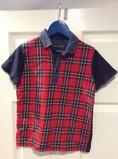 Next Red, White And Blue Checked T-Shirt - Age 8 Years