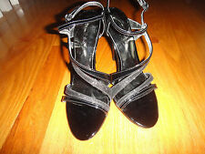 "GUESS SANDALS for Woman: Black: Gwodana .SIze 6.5 M: 3""+ Heels .Ankle strap:"