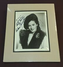 """"""" Barbara Stanwyck """"/ Custom Matted Autographed Photo."""