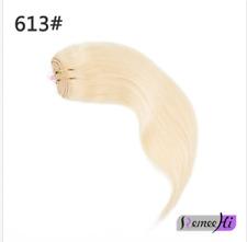 "Remy 3/4 Half Wig 100% Human Hair Half Wig Straight Hair Machine Weft Cap 15-24"""