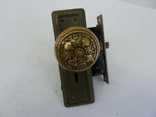 ANTIQUE VICTORIAN DOOR KNOB AND COVERS WITH MORTISE LOCK