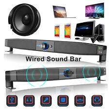 Tv Sound Bar Home Theater Wired Soundbar Sound Box Stereo Subwoofer Speaker Usb
