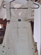 Beige Jeans, NEW Size S Small 100% Cotton Denim Bib Overalls, 32 X 32 w/Tags