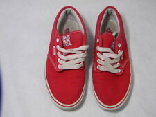 VANS Off The Wall Red Canvas Lace Up Low Top Skater Sneakers Women's 8