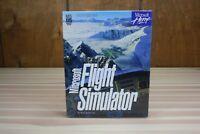 "Vintage 1993 Microsoft Flight Simulator Version 5.0 in Box 3.5"" HD Disks MS DOS"