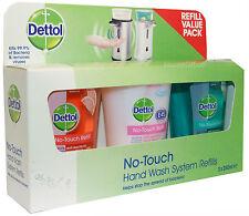Dettol No Touch sistema di lavaggio a mano ricariche 3 x 250ml vasche ricarica con e45