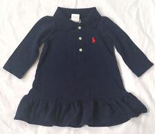 New Baby Ralph Lauren Long-sleeved Polo Dress 9M