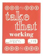 Take That - Konzert-Satin-Pass Working vom 30.03.1995 - Sammlerstück