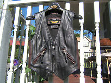 HARLEY DAVIDSON 95th ANNIVERSARY LEATHER VEST WOMENS SMALL